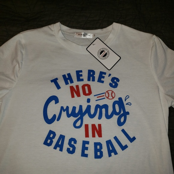 8ab5eadf Classic Wear Tops | Theres No Crying In Baseball Tshirt Size M ...